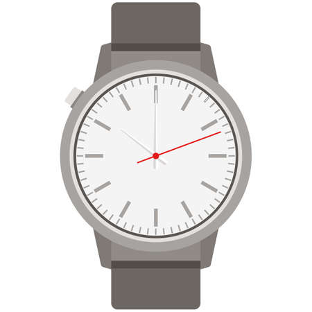 Wristwatch accessory for time measurement isolated vector