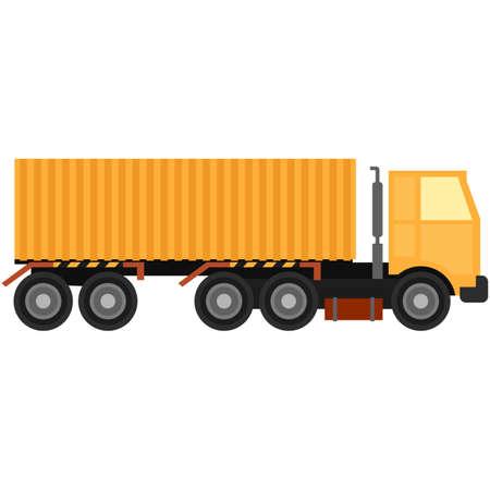 Vector semi truck van isolated on white background Vecteurs