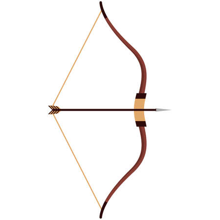 Indian arrow and bow vector isolated on white