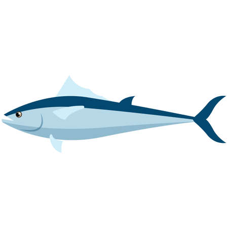 Herring fish vector icon isolated on white background