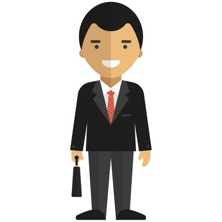 Businessman flat vector icon isolated on white background Vektorové ilustrace