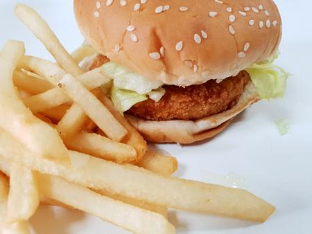 Delicious fast food hamburger