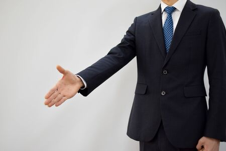 The pose of a smart expert Stock Photo