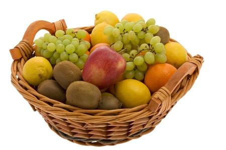 fruit basket: Fruit basket with different fruits