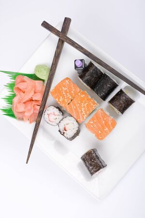 tunafish: Sushi with pisces and vegetables
