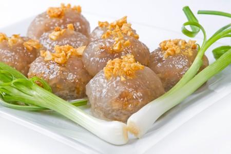 Tapioca dumplings with joung onion