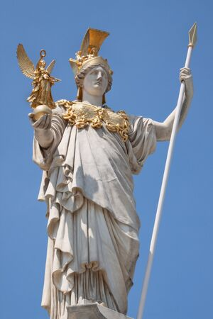pallas: Pallas Athena in front of the Parliament Vienna, Austria