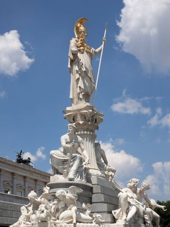 pallas: Pallas Athena in front of the Parliament Vienna, Austria