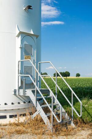 energia eolica: Sistema de energ�a de viento con puerta