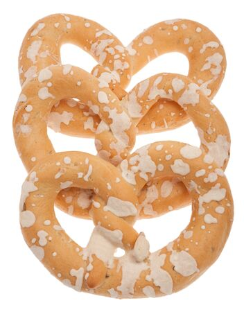exempted: Bavarian pretzel exempted from white background