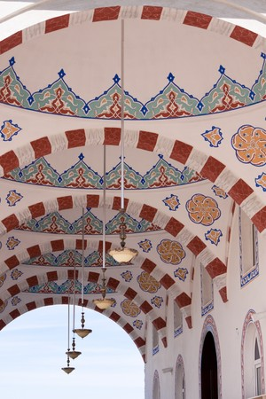 Frescoes of a newly built mosque photo