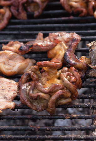 intestines: Intestines at the grill; Asian cooking