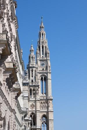 Detail from the Rathaus in Vienna, Austria photo