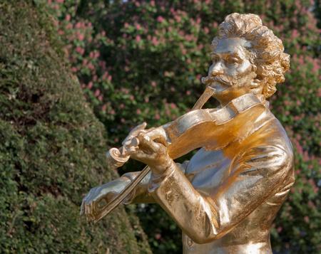 Johann Strauss Monument in Vienna; Austria Stock Photo