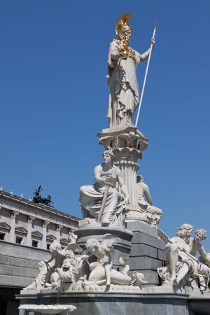pallas: Pallas Athena in front of Parliament in Vienna; Austria Stock Photo