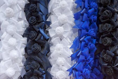 Colorful homemade ribbon for a background photo