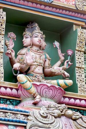 mariamman: Detail of Hindu Temple Sri Mariamman in Bangkok; Thailand Stock Photo