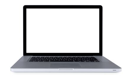 Laptop with white screen and clipping path Stock Photo - 11537590