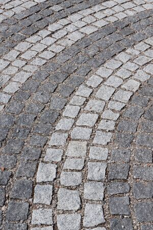 Detail of a cobbled road photo