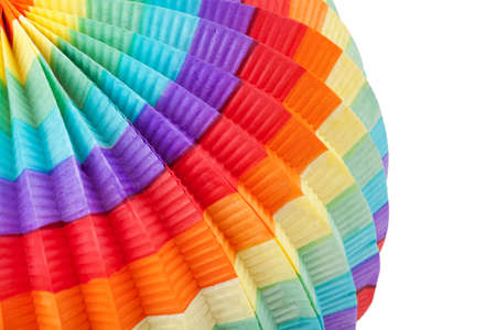 colorful lantern: Close up of colorful lantern in front of white background