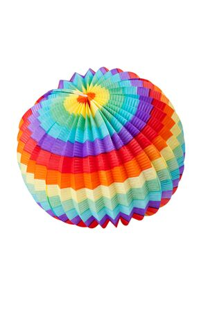 colorful lantern: Colorful lantern in front of white background Stock Photo