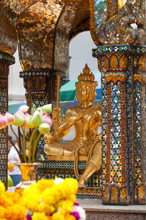 Detail of Erawan Shrine in Bangkok; Thailand Фото со стока