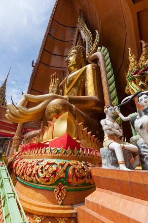 sua: Gigantic Buddha in the Wat Tham Sua at Kanchanaburi; Thailand