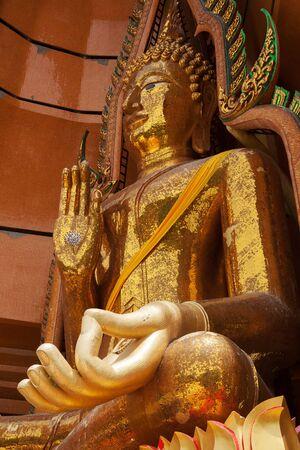 gigantesque: Gigantic Buddha in the Wat Tham Sua at Kanchanaburi; Thailand
