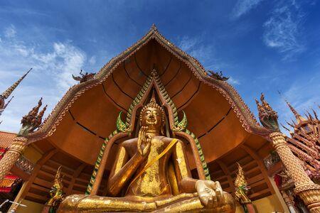 sua: Gigantic Buddha in Wat Tham Sua at Kanchanaburi; Thailand