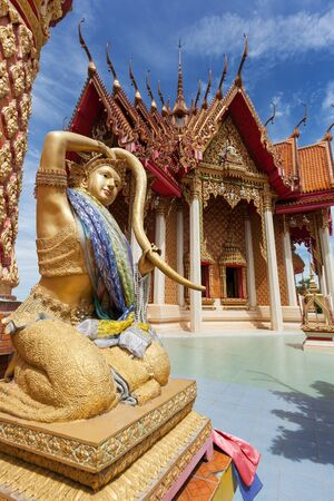 sua: Female statue in the temple Wat Tham Sua at Kanchanaburi; Thailand