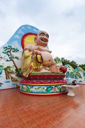 chinese buddha: Close up of large Chinese Buddha Statue in Thailand