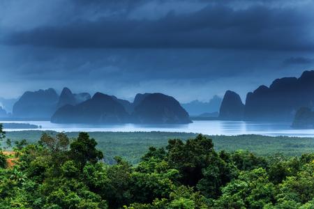 Viewpoint in Sametnangshe overlooking the bay of Phang Nga