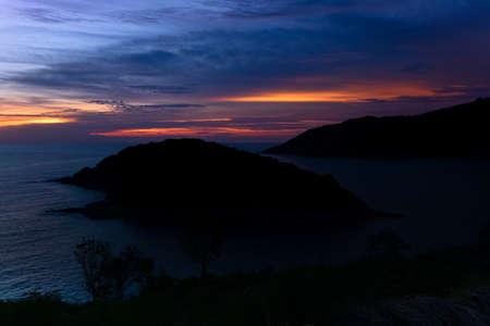 Sunset on the island Ko Man in Phuket; Thailand