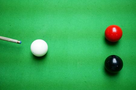 Snooker, Taking a shot on the black Archivio Fotografico