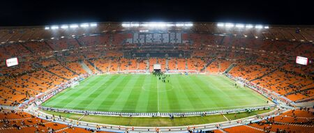 world cup: Panoramic photo inside the Soccer City stadium during the 2010 Fifa world cup.