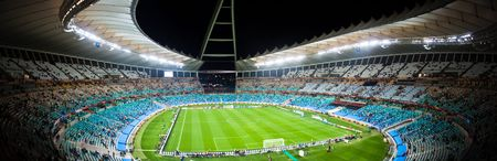 Panoramic photo taken inside the Moses Mabhida Stadium in durban, during the Fifa 2010 world cup.