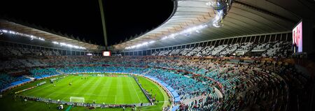 mabhida: Panoramic photo taken inside the Moses Mabhida Stadium in durban, during the Fifa 2010 world cup.