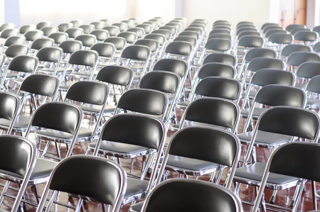 Many chair in the conference room. photo