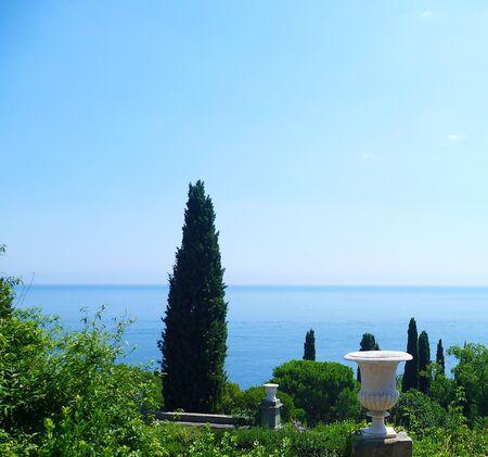 vorontsov: Sea view from the Vorontsov Palace. Alupka. Crimea