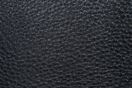 black leather texture: Embossed black leather texture, with irregular shapes and veins. Leather texture. Closeup Stock Photo