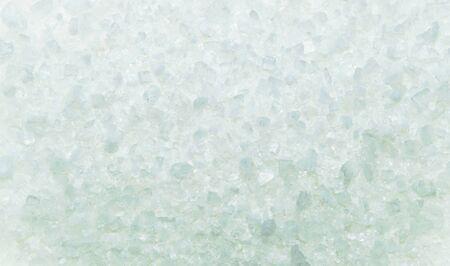 sal: textura azul pequeños cristales brillantes. La textura de la sal, el hielo. De cerca
