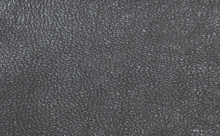 upholster: Dark grey skin, streaked. Leather texture. Closeup Stock Photo