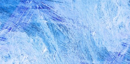 palette knife: Texture blue, oil palette knife on a white canvas. Detailed blue background oil painting