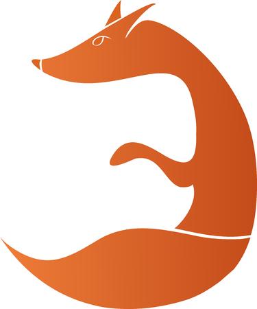 white tail deer: Animal fox icon,print Illustration
