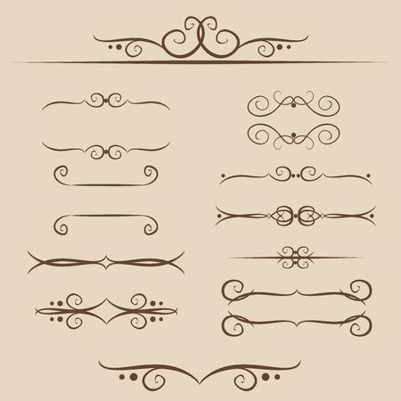 Een reeks van frames, ornamenten monogrammen voor tekst en web