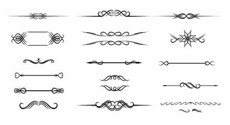 手描き下ろしビンテージ フレーム分離ベクトルでテキスト装飾用の華やかなセット