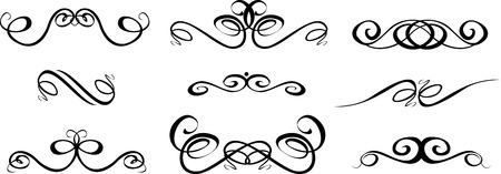 Ornate set of hand drawn vintage frames for text decoration in vector Vektorové ilustrace