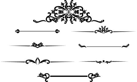 Set of black hand drawn vintage frames for text decoration