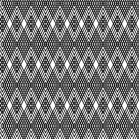 illusions: Abstract geometric background. Optical illusions, elongated rhombs. Seamless texture