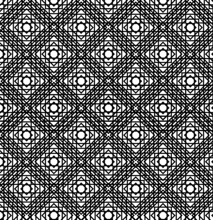 illusions: Abstract geometric background. Optical illusions, curves. Seamless texture